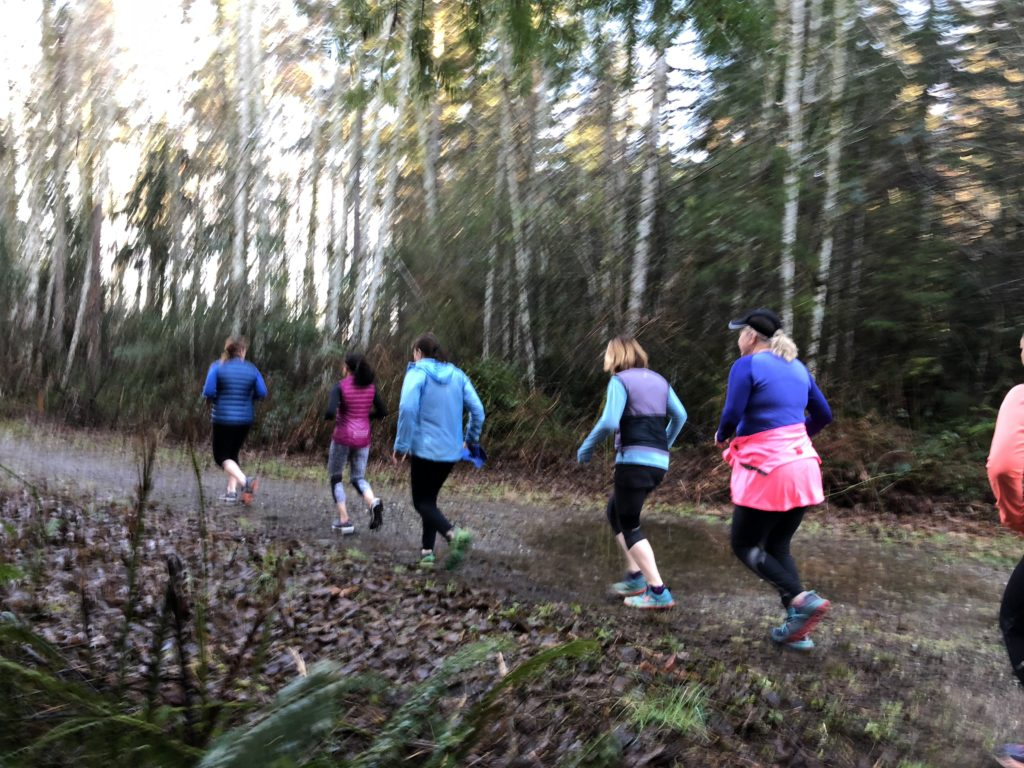 The Trail Tuesdays ladies reaching new goals.