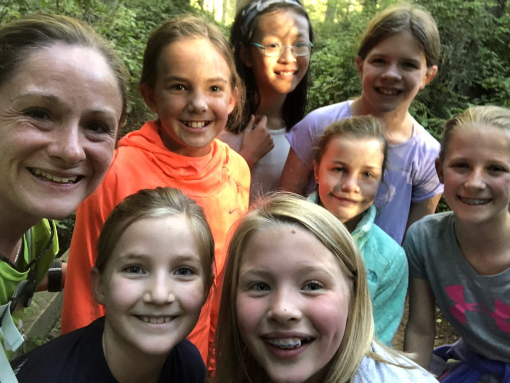 Trail Divas - running disguised as hunting for rocks and playing in the creek.  Have fun with your runs!